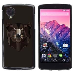 YOYOSHOP [Cool Bear Illustration] LG Google Nexus 5 Case