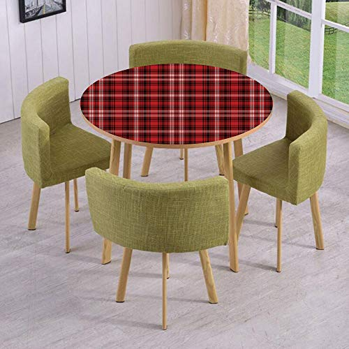 (iPrint Round Table/Wall/Floor Decal Strikers/Removable/Quilt Squares Rectangles Flannel Pattern Geometric Inspirations Abstract/for Living Room/Kitchens/Office Decoration)