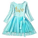 Girl Shinny Stripe Baby Sleeveless Printed Tutu Cake Smash Birthday Dress