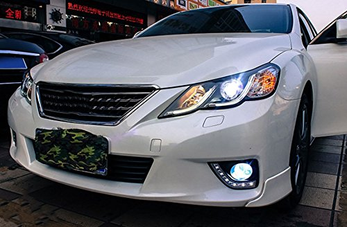 GOWE Car Styling for Toyota Reiz led headlights 2010-2013 new Mark X LED Head Lamp signal drl H7 hid Bi-Xenon Lens low beam Color Temperature:4300K Wattage:35W 4