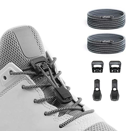 Xpand Quick Release Round-Lacing No Tie Shoelaces System with Elastic Laces - One Size Fits All Adult and Kids ()