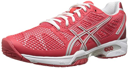 ASICS Women's Gel Solution Speed 2 Tennis Shoe, Hibiscus/Silver/White, 7.5 M US