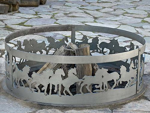 P&D Metal Works Mustang Fire Pit Ring by M.A.D. Metal Works