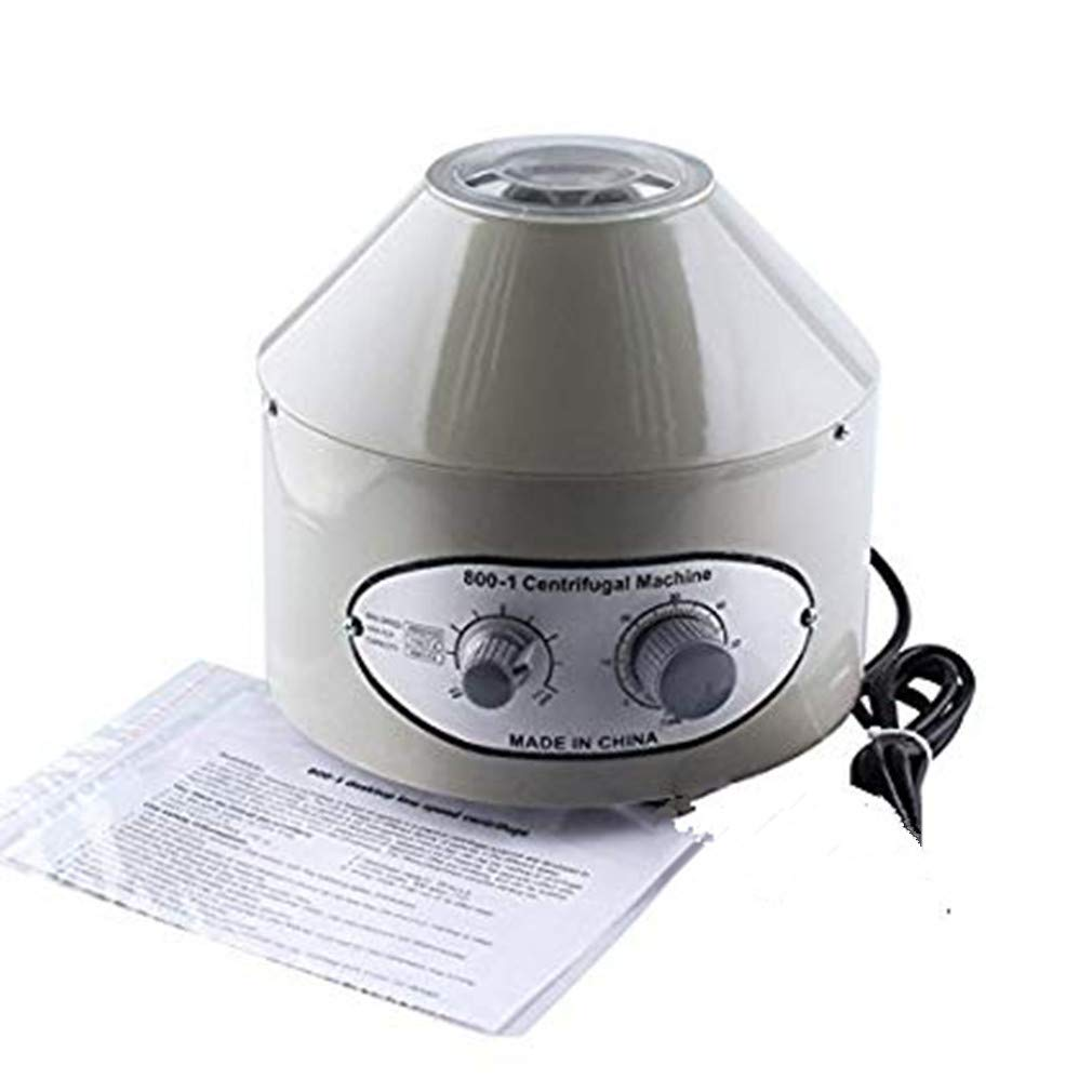 Electric Lab Laboratory Centrifuge Machine Desktop Lab Medical Practice with Timer and Speed Control Low Speed 4000 RPM 20 ml x 6 Centrifuge Tube 110V by MIFXIN