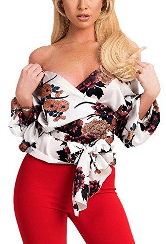 fashion Tumblr Con V Giovane Bende Simple shirt Camicie Maglietta T Bluse Collo 3 Sexy Stampa Moda Top Estivo Bianca Maniche Donna 4 vAHH4fdq