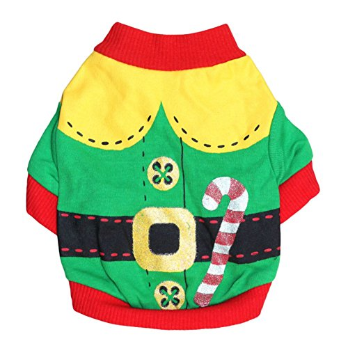 Santa Dog Tank - PanDaDa Christmas Small Pet Clothes Dog Clothes Dog Shirt Clothes for Pet Puppy Tee shirts Dogs Costumes Cat Tank Top Vest (L, Santa Claus)