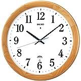 SEIKO CLOCK ( Seiko clock ) wall clock radio clock twin -Pas wooden frame KX311B