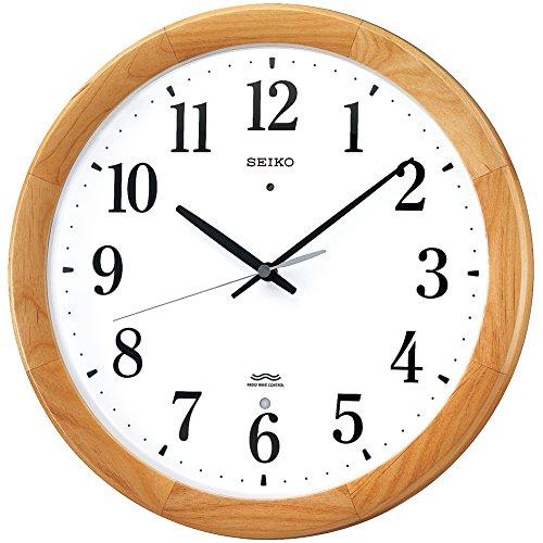 SEIKO CLOCK ( Seiko clock ) wall clock radio clock twin -Pas wooden frame KX311B by Seiko