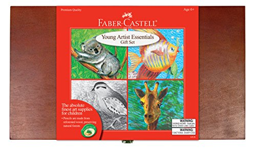 Faber-Castell Young Artist Essentials Gift Set - 64-Piece Premium Quality Art Set for - Gift Essentials