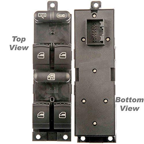 APDTY 012611 Master Power Window Switch Front Left Driver-Front For 1999-2006 VW Golf 4-Door / 1999-2005 VW Jetta 4-Door / 1998-2005 VW Passat 4-Door (Replaces VW 1J4959857D)
