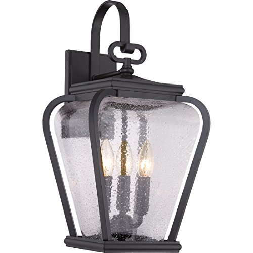 Quoizel PRV8409K Province 3-Light Outdoor Lantern, Mystic - Quoizel Lighting Wall French