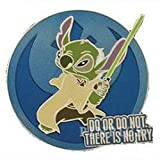 #9: Disney Pin 108030 Star Wars Quotes - Stitch As Yoda Pin