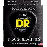 DR Strings Electric Guitar Strings, Black Beauties-Extra-Life Black Coated, 10-52