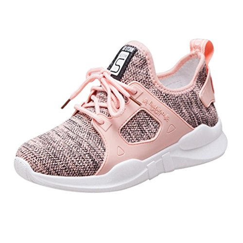 Clearance Women Running Shoes for Teens Students,Athletic Slip-on Sneakers Walking Flats Shoes 6-8 (Pink, US:6) by Aurorax-Shoes