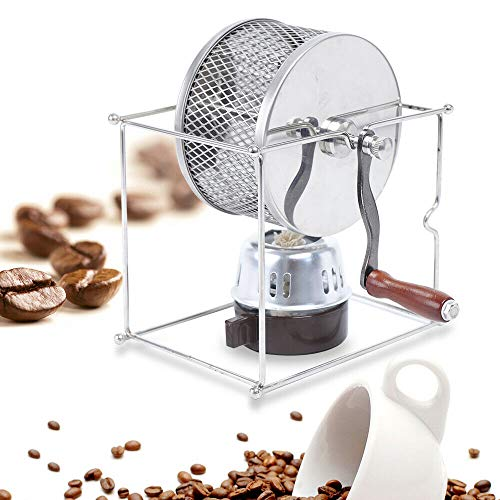 DONNGYZ Manual Coffee Roaster Machine Beans Roasting Machine Stainless Steel Rollers Roaster with Handle Household(US…