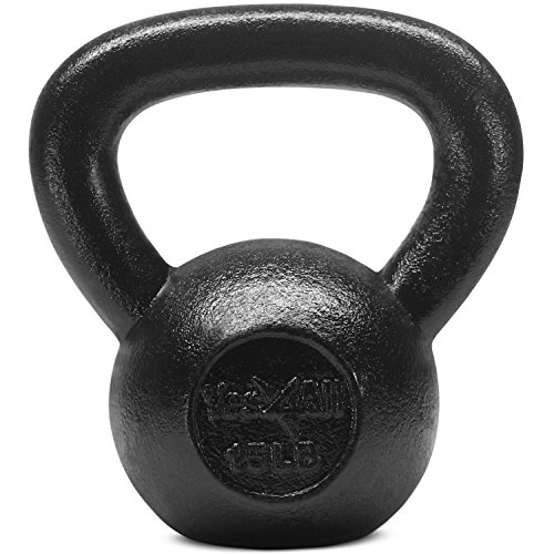 Yes4All Solid Cast Iron Kettlebells Weight Available 5, 10, 15, 20, 25 to 80 lbs