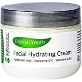 Anti Aging Cream for face and dry skin – Moisturizing Cream and Wrinkle treatment – Best natural formula with Added Vitamins + CoQ10 + Hyaluronic Acid + Organic Antioxidants for permanent beauty - 2oz