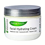 Anti Aging Cream for face and dry skin – Moisturizing Cream and Wrinkle treatment – Best natural formula with Added Vitamins + CoQ10 + Hyaluronic Acid + Organic Antioxidants for permanent beauty – 2oz For Sale