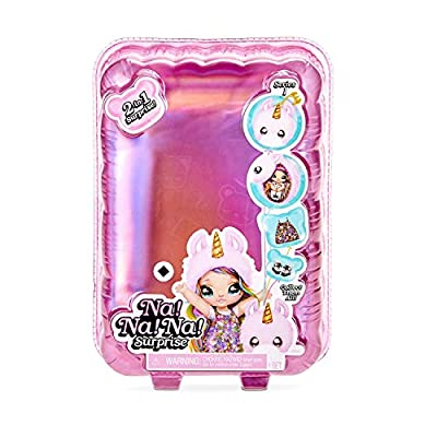 NA NA NA Surprise 2-in-1 Aubrey Heart Fashion Doll & Plush Bunny Pom with Confetti Balloon Unboxing: Toys & Games