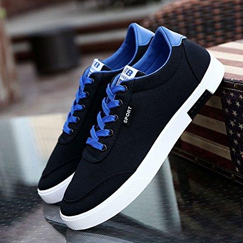 los los de la Zapatillas Bajos para Cordones Hombres Deportes Otoño de Zapatillas Deporte el Respirables de de Zapatos Moda Deportivas Negro Zapatos Primavera con de la TEnq6a6g