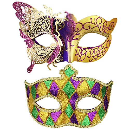Couples Masquerade Mask Butterfly Mardi Gras Mask Halloween Venetian Cosplay Costume Party Mask]()