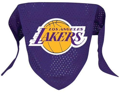Hunter MFG Los Angeles Lakers Mesh Dog Bandana, Large
