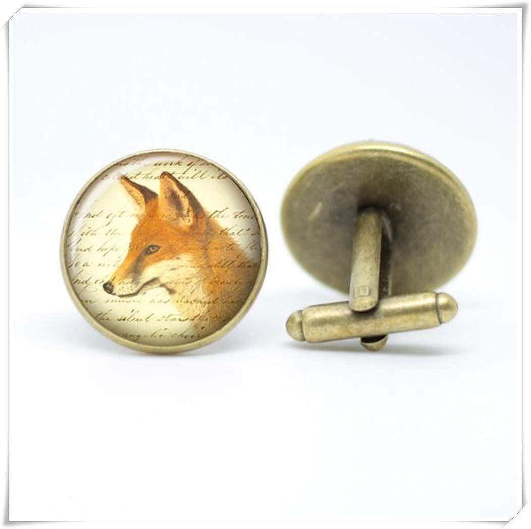 Red Fox Manschettenkn/öpfe mit handgefertigtem Heritage Tier-Design.
