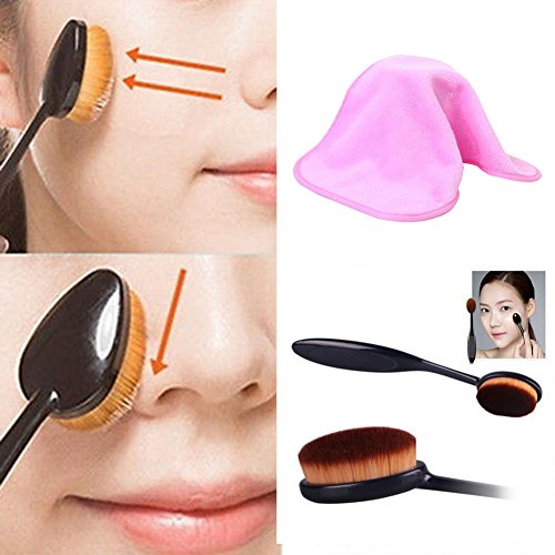 EFINNY Makeup Remover Towel Reuseable Makeup Cleaning Towel +Foundation Cream Powder Blush Brush