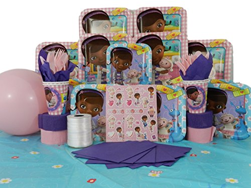 Doc McStuffins 146 Pc Deluxe Birthday Party Pack Serves 16