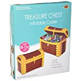 Beistle 50988 Inflatable Treasure Chest Cooler, 24-Inch Width by 17-Inch Height