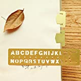AKOAK 2 Piece Set Brass English alphabets