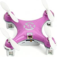 oneCase Cheerson CX-10 29mm 4 Channel 2.4GHz Radio Control RC Mini Quadcopter Helicopter Drone 6-Axis Gyro UFO with LED Flash Light - Pink