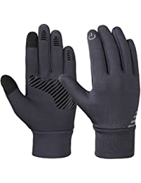 VBG VBIGER Kids Winter Gloves Boys Girls Touchscreen Gloves Fleece Lined Sports Gloves Anti-slip Bike Gloves for Children 4-10 Years Old (Small (approx 4-6 years old), Grey)
