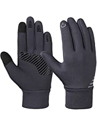 Vbiger Kids Winter Cycling Gloves Touch Screen Anti-slip Sports Gloves