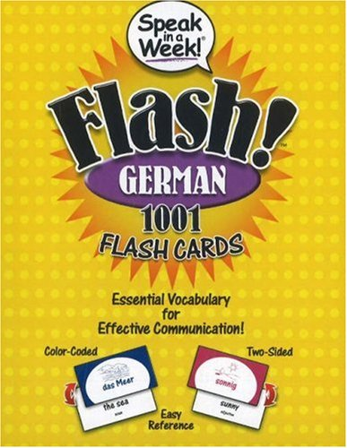 Speak in a Week Flash! German: 1001 Flash Cards (German and English Edition)