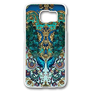 JHFHGVH Case for Samsung galaxy S6 PC, Turquoise Color Peacock Ultra Slim Printed Colorful Hard Fashion Artist series Bumper Case for Samsung galaxy S6 PC Transparent