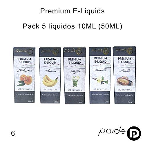 5 x 10ML Paide Premium E-Liquid - Sin nicotina - Líquido para cigarrillo electrónico - 50VG 50PG ... (Pack 1): Amazon.es: Salud y cuidado personal