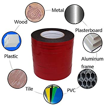 1 Rolls PE Foam Double Sided Tape Waterproof Mounting Adhesive Tape Roll for Doors//Plumbing//HVAC//Windows//Pipes//Construction Wide 1 in Long 33 Ft