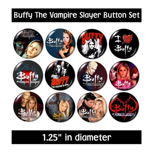 Buffy The Vampire Slayer Buttons Pins