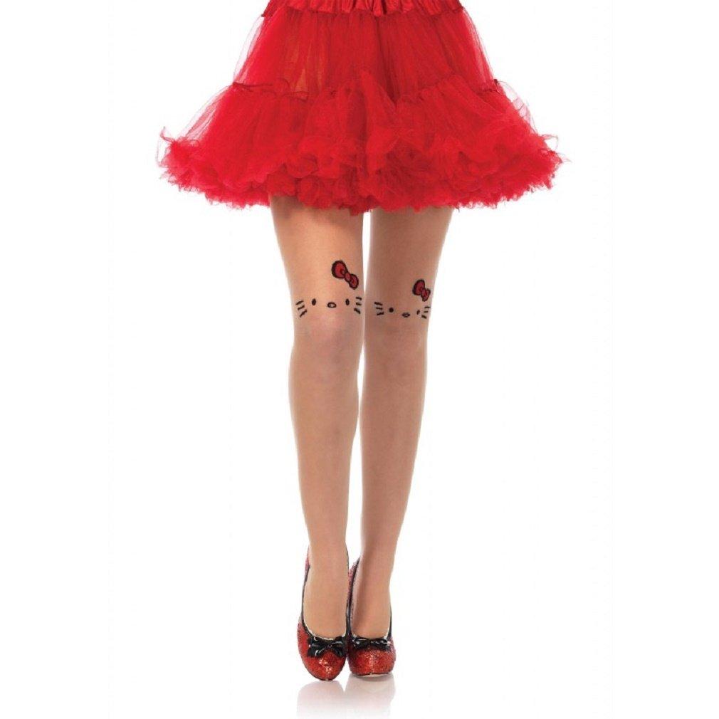 4 Styles Black White or Nude or Striped Leg Avenue Hello Kitty Pantyhose