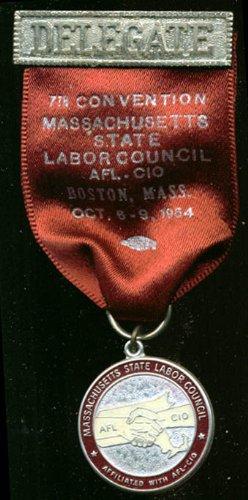 Massachusetts Labor Council Convention Delegate pin '64 ()