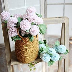 Ecosin Fashion Artificial Silk Fake Flowers Dandelion Floral Wedding Bouquet Hydrangea Decor 53