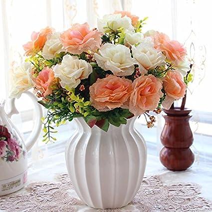 Flores de emulación empaquetados salón decorado con flores decoracion swing en maceta de plástico x
