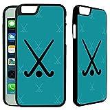 Hockey Pattern iPhone 6 / 6S Plastic Case - [TeleSkins] - Ultra Durable & Protective Hard Plastic Designer iPhone 6 / 6S Back Case - [iPhone 6 / 6S case (4.7 inch)]