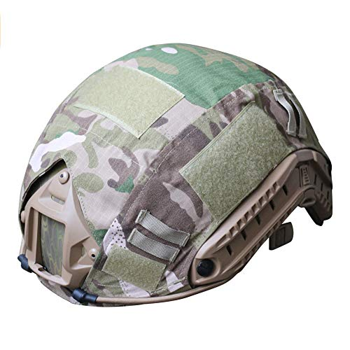 H World Shopping Outdoor Airsoft Paintball Tactical Military Gear Combat Fast Helmet Cover Multicam MC (Best Helmet Cam For Paintball)