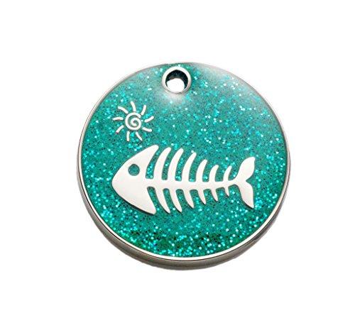 Katzenmarke Glanz Aqua Fisch inkl gravur und schnellen, kostenfrei Lieferung (Bieten Sie Ihren Gravur Anweisungen als Geschenknachricht)