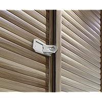 Sure Basics SB22 Cerradura para puerta corrediza, gris /blanco (paquete de 2)