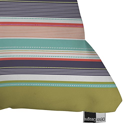 """DENY Designs Wendy Kendall """"Multi Stripe"""" Outdoor Throw Pillow, 26 by 26-Inch"""