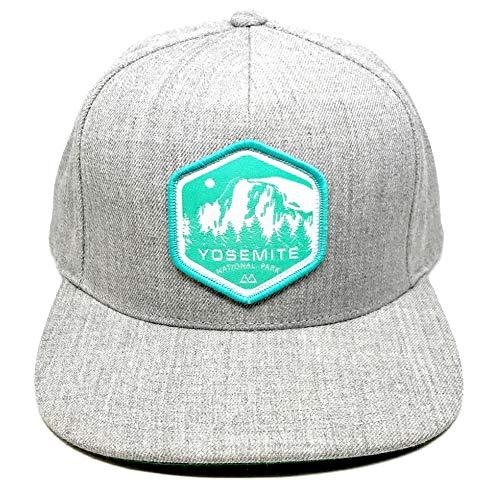 Skye Mountain Co. - Yosemite Logo Hat | Flat Brim Trucker Hat - Snapback - Heather Gray (One Size) (Heather Mountain)