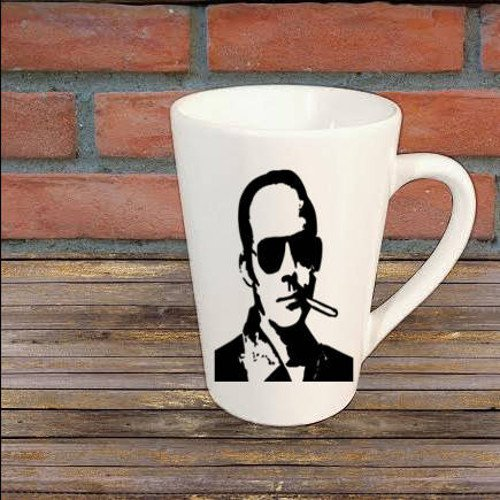 Gonzo Hunter S Thompson Mug Coffee Cup Gift Halloween Home Decor Kitchen Bar Gift for Her Him Any Color Personalized Custom (Hunter S Thompson Halloween)